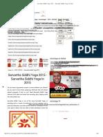 Sarvartha Siddhi Yoga 2015 - Sarvartha Siddhi Yoga in 2015