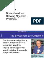 Lecture-5 (Bresenhams Line Problems)
