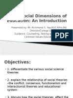 Social Dimension of Education