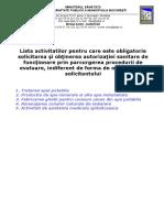 0 - Lista activitatilor pentru care este obligatorie autorizarea sanitara (1).doc