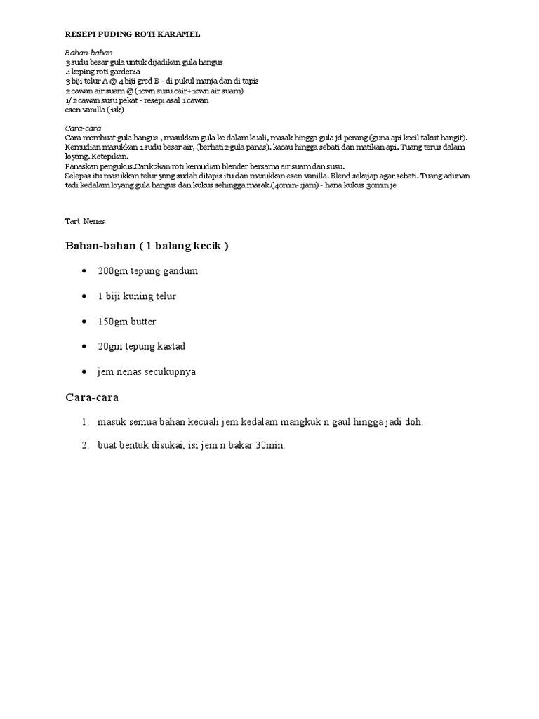 buat puding gula hangus resep bunda rumahan Resepi Roti Hotdog Lembut Enak dan Mudah