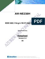 AzureWave AWNE238h WiFi Card