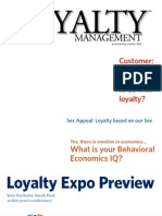 Loyalty Management Sex Appeal Loyalty Based on Our Sex