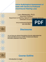 assessment of individuals with severe to profound hearing loss-medwetsky