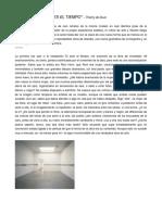 De DUVE, Thierry - Roni Horn, Tú Eres El Tiempo