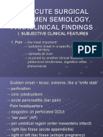The Acute Surgical Abdomen Semiology