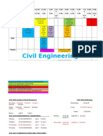 Timetable Semester 7