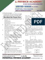 Test 17 Heat & Thermodynamics