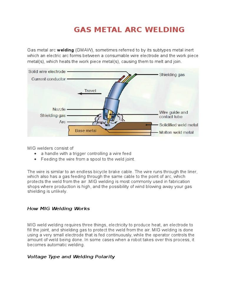 Gas Metal Arc Welding Transparent Materials Joint Diagram