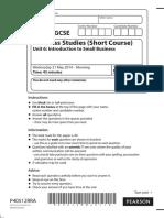 Question Paper Unit 6 June 2014