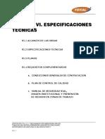 Vi Especificaciones Tecnicas, Bases Licitacion Lp001_2014