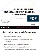 Key Issues in Marine Trade