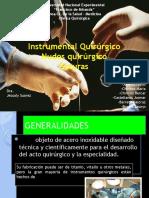 Instrumental Quirúrgico, Nudos Quirúrgicos y Suturas
