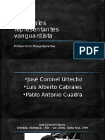 Principales Representantes Vanguardista