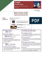 bulletin 26 february 2017