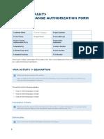 Project Change Authorization Form