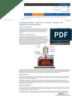 Cutting Process-Plasma Arc Cutting