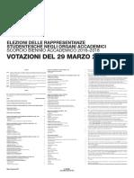 Manifesto Indizione Elezionistudenti 2017 uniud
