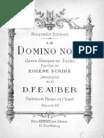 Le Domino Noir Flamme Vengeresse - Auber