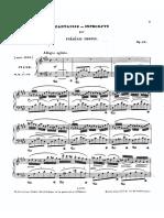 Chopin - Fantaisie Impromptu Op.66 First Edition 1855