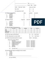 Demonetisation Questionnaire