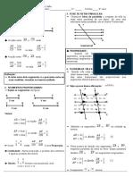 Segmentos Proporcionais Teorema de Tales