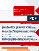 CONTRATACION DOCENTE 2017