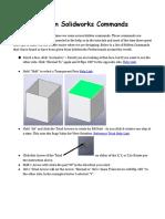 Hidden Solidworks Commands