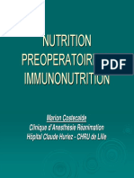 Nutrition Preoperatoire Et Immunonutrition