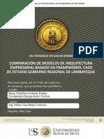 Comparación de Modelos de Arquitectura Empresarial Basado en Frameworks