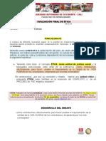 Ética Evaluación Final Ensayo 18.11.16
