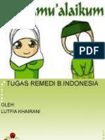 Tugas Remedi Ujian Mid Bahasa Indonesia 2