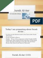 Surah Al-Asr Presentation