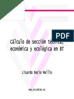 Selección Tecnica Economica y Ecologica en Bt