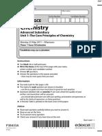 June 2011 MS - Unit 1 Edexcel Chemistry a-level