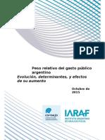 Consejo Iaraf Gasto Publico Argentino Oct 2015