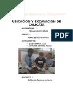 Informe de Calicata Suelos I