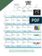 Activity Calendar Updated Feb 25