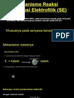 Ppt Mekanisme Reaksi Elektrofilik