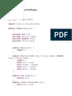 Spring JDBC Using RowMapper