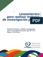Lineamientos Para Realzar Trabajos de Investigacion