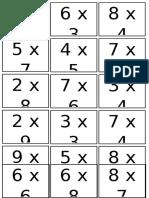 Fichas multiplicacion