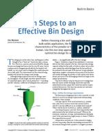 Ten Steps to an Effective Bin Design - AIChE