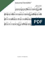 ''Immortal Invisible'' - Trumpet in C