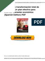 e b o o k 1602551111 La Transformaci n Total de Su Dinero Un Plan Efectivo Para Alcanzar Bienestar Econ Mico Spanish