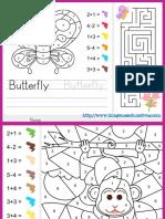 Fichas de Matemáticas Para Sumar y Colorear
