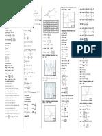 Formulario de Cálculo Diferencial e Integral