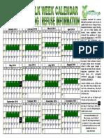Ordinance No. 133-13 - Exhibit B - 2014 Bulk Week Calendar
