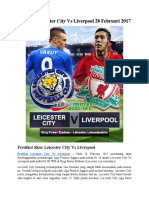 Prediksi Leicester City vs Liverpool 28 Februari 2017