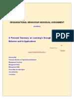 Organizational Behaviour PersonalSummaryFinal